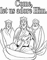 Wise Coloring Three Kings Pages Printable Getcolorings sketch template