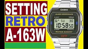 Setting Casio A163w Manual 593 To Use Digital Time Casio Retro Watches