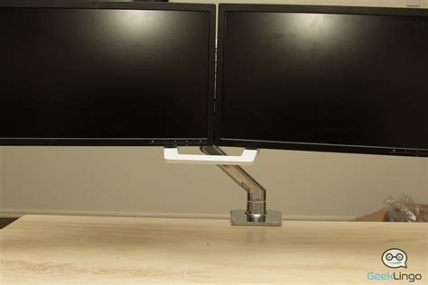 desk for 2 monitors ergotron hx desk dual monitor arm reviewed geeklingo