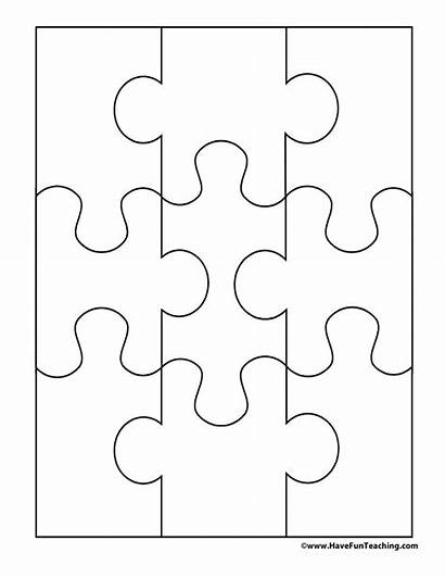 Puzzle Paper Pieces Cut Blank Fun Outs