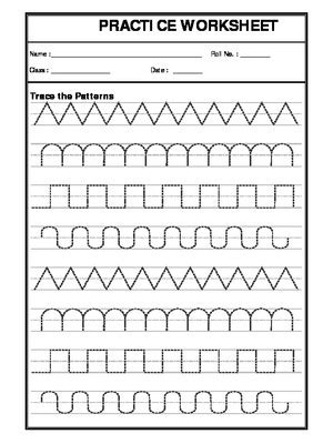 a2zworksheets worksheets of pattern writing english