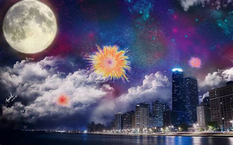 Anime Fireworks Wallpaper Hd by Fireworks Wallpapers Wallpaper Cave
