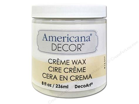 Americana Decor Creme Wax 8 Oz Clear decoart americana decor creme wax 8 oz clear createforless