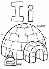 Igloo Coloring Letter Printable Tocolor sketch template