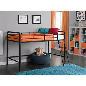 junior metal loft bed black walmart com