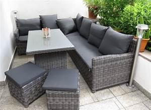 Lounge Set Mit Esstisch : unser neues polyrattan lounge terrassenm bel ~ Bigdaddyawards.com Haus und Dekorationen