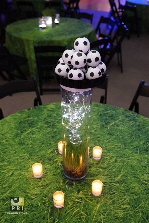 soccer centerpieces  pinterest soccer party favors