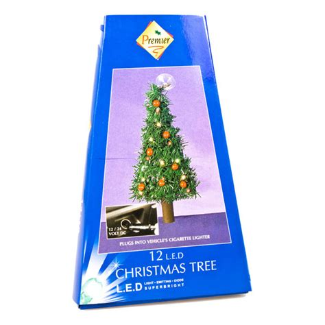 12 volt christmas tree lights 18cm in car tree with 12 led lights decorations and supplies uk