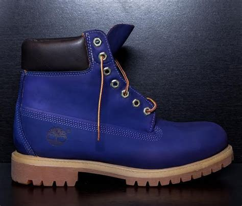 designer timberland boots sycamore style custom dyed quot blueberry quot timberland boots ebay