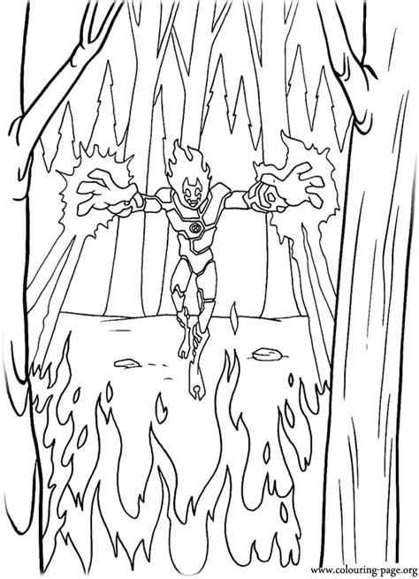 ben  heatblast alien coloring page