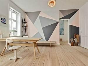 Peinture Mur Chambre : peinture mur interieur murale couleur salon couleurs ~ Voncanada.com Idées de Décoration