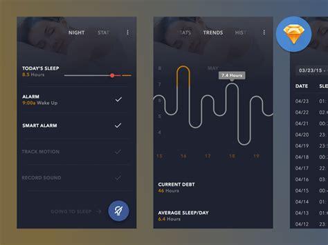 spotify fitness app concept sketch freebie