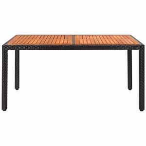 Gartentisch 120 X 90 : vidaxl gartentisch poly rattan akazienholz tischplatte 150 x 90 x 75 cm g nstig kaufen ~ Markanthonyermac.com Haus und Dekorationen