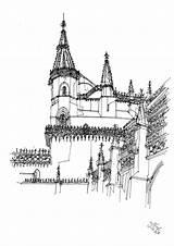 Monastery Drawing Getdrawings sketch template