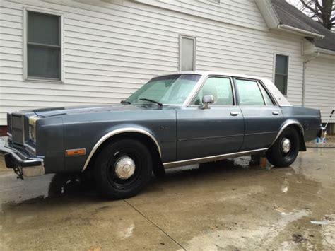 Dodge Diplomat For Sale by 1986 Dodge Diplomat Se 90 Rust Free Cop Car