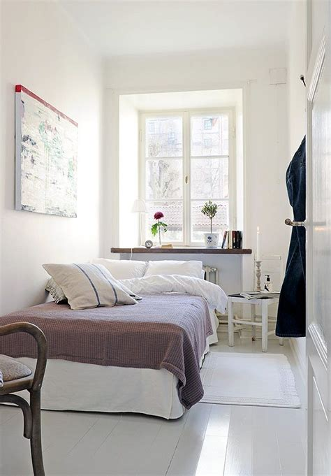 bedroom narrow bedroom design  couple  white