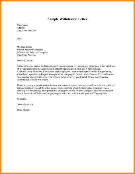withdraw letter artresumescom