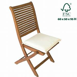 Sedia pieghevole in legno teak salvaspazio per arredo esterni giardino cuscino Bakaji Prezzi in