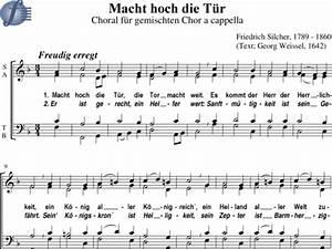 Da Ist Die Tür : macht hoch die t r choral friedrich silcher noten zum download ~ Watch28wear.com Haus und Dekorationen
