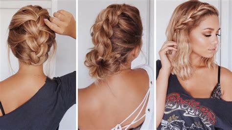 easy hairstyles  shortmedium length hair ashley