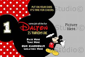 Mickey Mouse Birthday Invitation By RitterDesignStudio
