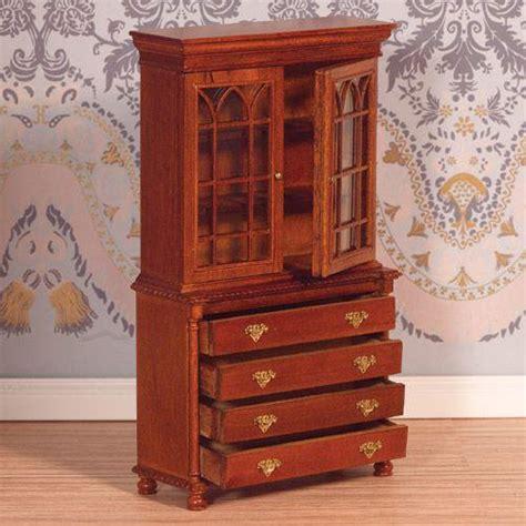 Dolls House Bookcase by The Dolls House Emporium Bookcase Bureau Walnut Finish