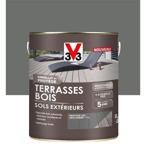 peinture sol exterieur leroy merlin peinture sol ext 233 rieur terrasse bois v33 gris ombr 233 2 5l leroy merlin