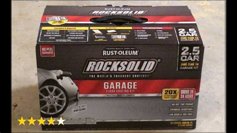 Rust Oleum RockSolid Garage floor coating kit Review   YouTube