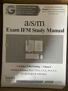 Asm Study Manual For Soa Exam Ifm 1st Ed  5th Printing By