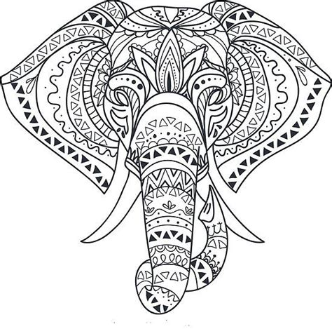 pin  shari duke     elephant outline mandala