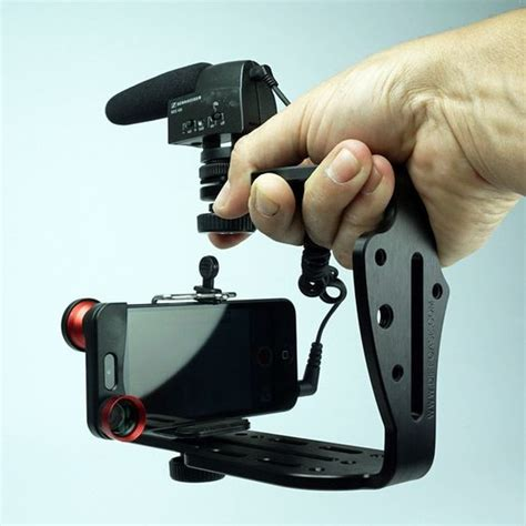 iphone rig brushed aluminum tripod mount for iphone 6 6 plus more