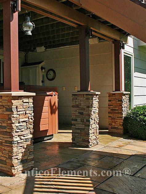 faux stone columns post wraps column wraps outdoor