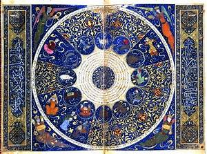 Above is an ancient Islamic horoscope. The Muslims did ...