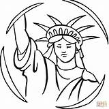 Liberty Statue Coloring Drawing Pages Outline Torch Cartoon Buddha Clipart Draw Easy Cliparts Clip Face Printable sketch template
