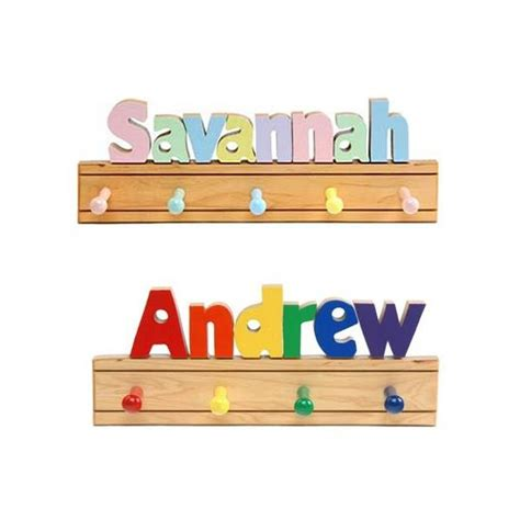 personalized wooden coat rack pretty personal gifts