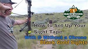 How To Set Up A Sight Tape On A Bow  Black Gold Sight Tape