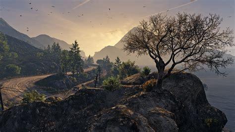 fondos de pantalla paisaje bosque puesta de sol