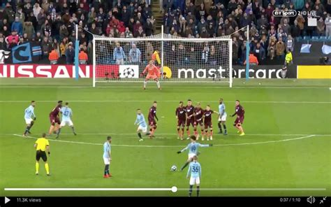 video sane scores stunning  kick  equalise  city