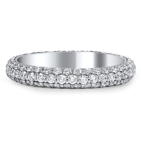 wedding band diamond pave custom three sided pave diamond wedding band brilliant earth