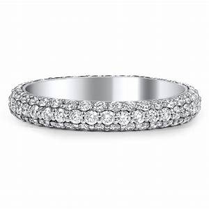 custom three sided pave diamond wedding band brilliant earth With pave diamond engagement rings wedding bands
