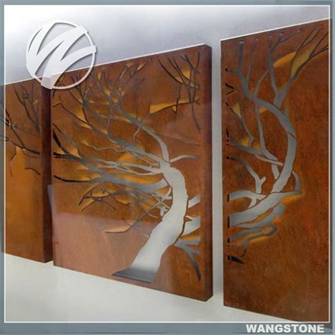excellent metal corten steel tree wall gallery decor buy metal wall wall decor