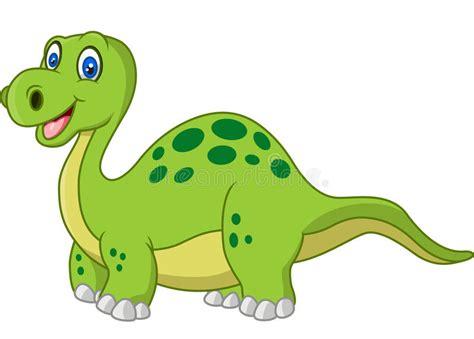 Lycklig Dinosaurie För Tecknad Film Vektor Illustrationer