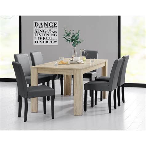 table et 6 chaises table 160 cm en bois avec 6 chaises pour tables a 492 09