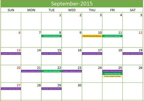 excel calendar template excel calendar year event