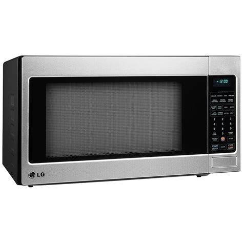countertop microwave stainless steel lg electronics 2 0 cu ft countertop microwave in