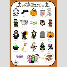 Vocabulary Of Halloween  3rd Grade