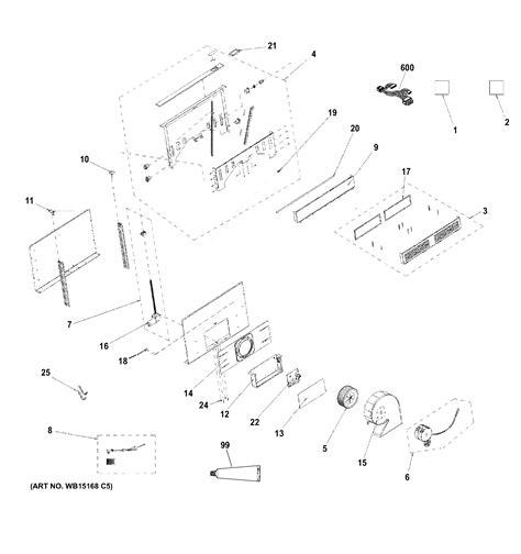 ge pvbstss downdraft ventilation system parts sears