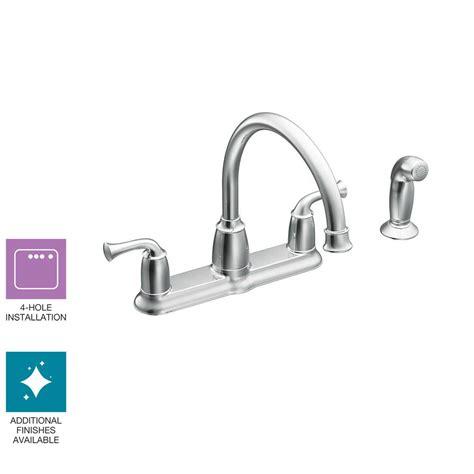 Moen Banbury Kitchen Faucet by Moen Banbury 2 Handle Mid Arc Standard Kitchen Faucet With