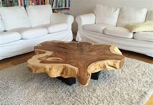 Baumstamm Als Tisch : tisch aus baumstamm selber machen haus design ideen ~ Watch28wear.com Haus und Dekorationen