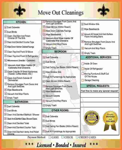 move  cleaning checklist marital settlements
